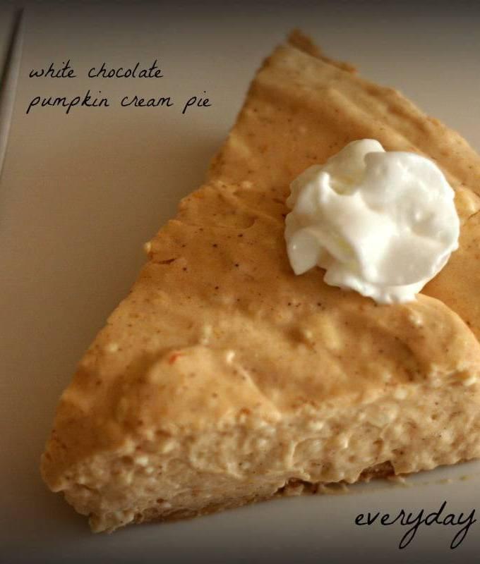 white chocolate pumpkin cream pie