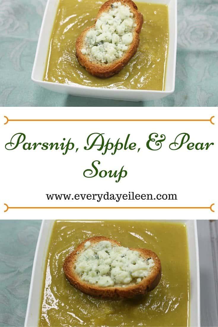 Parsnip, apple, pear soup