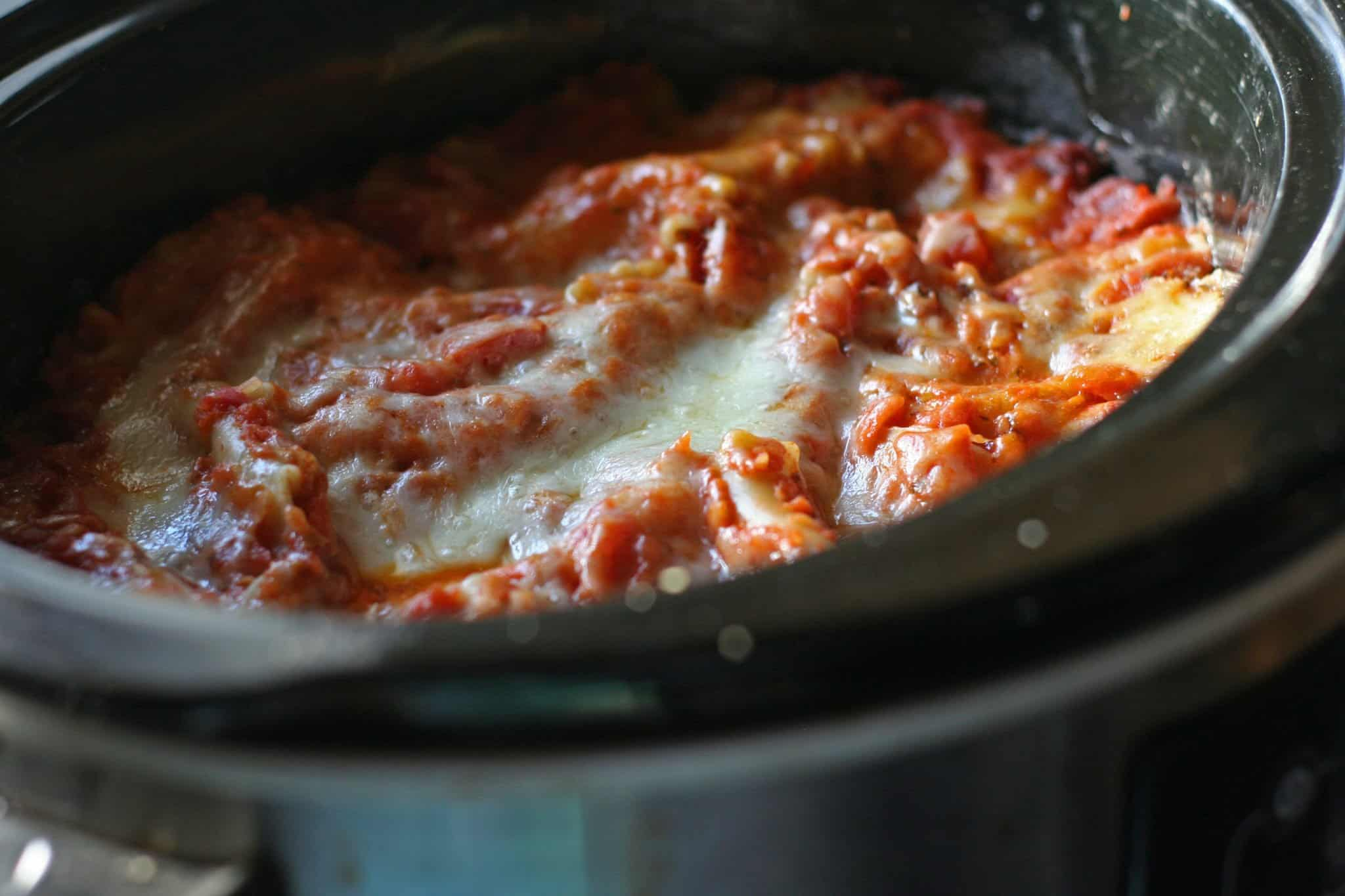 slow cooker sneaky tofu lasagna