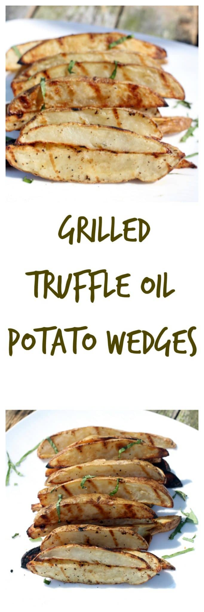 grilled truffle oil potato wedges