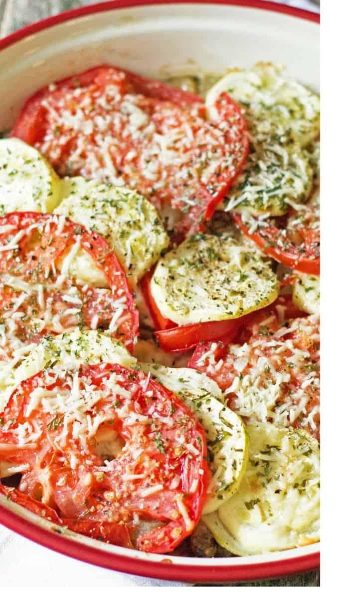 Zucchini, Tomato, Eggplant Bake