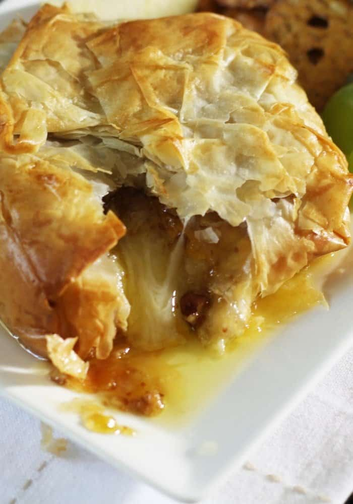 baked phyllo with fig jam