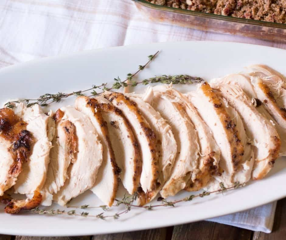 Roasted Turkey Breast with Bourbon Maple Glaze