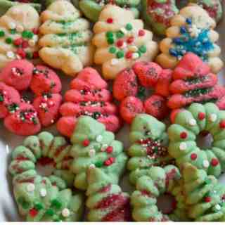 classic holiday spritz cookie