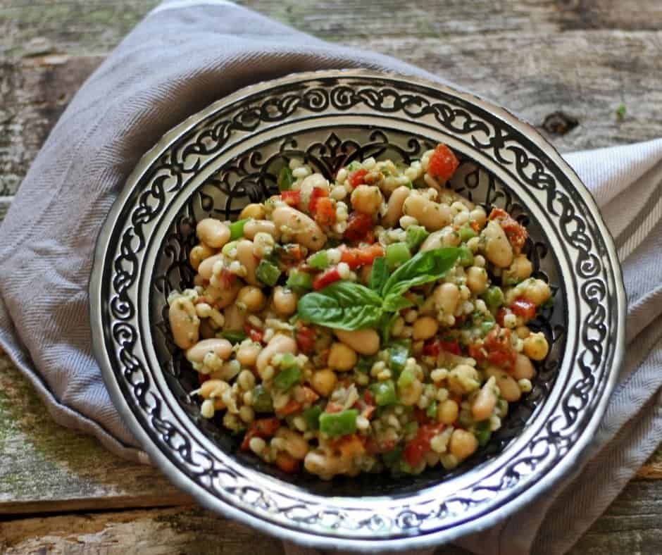 Healthy Tuscan Bean Salad
