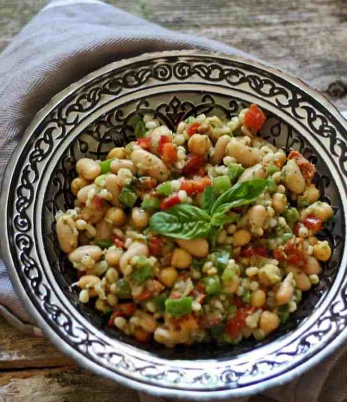 Healthy Tuscan Bean Salad
