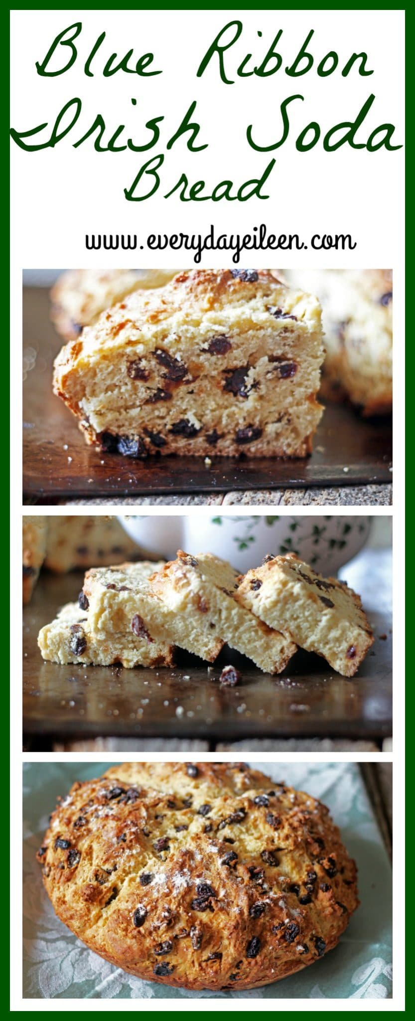 Here you have The Best Irish Soda Bread Recipe! My families recipe is a one-bowl wonderful easy bread. You will be a hit with your family once they taste this bread. #irishsodabread #sodabread #authentirishsodabread #irishsodabreadwithraisins #traditionalirishsodabread #everydayeileen