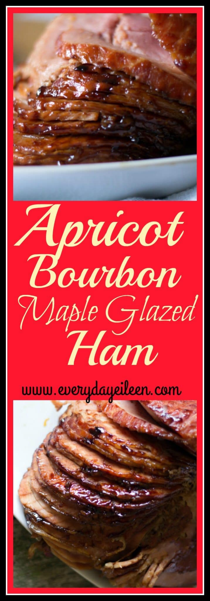 apricot bourbon maple glazed ham