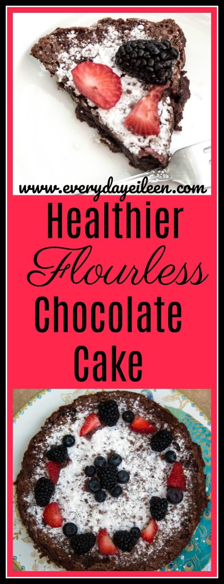 healthier flourless chocolate cake