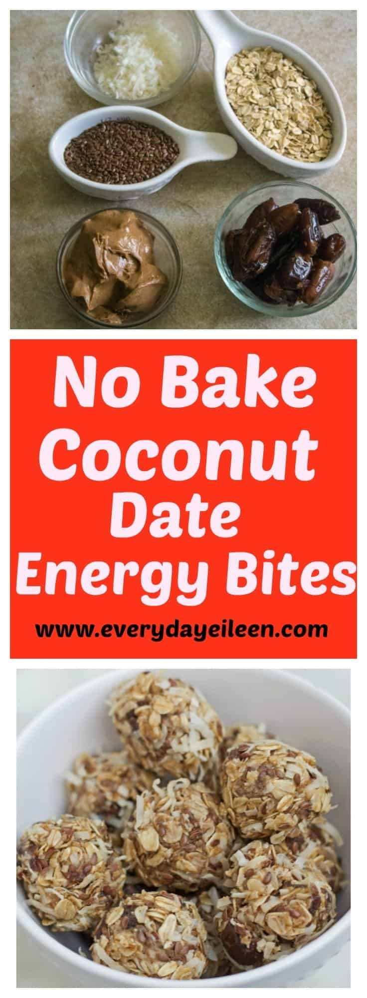 no-bake coconut date energy bites