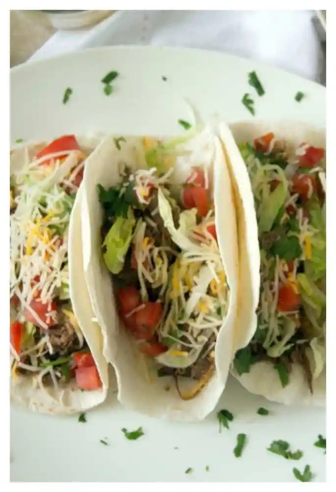 shredded Mexican beef taco