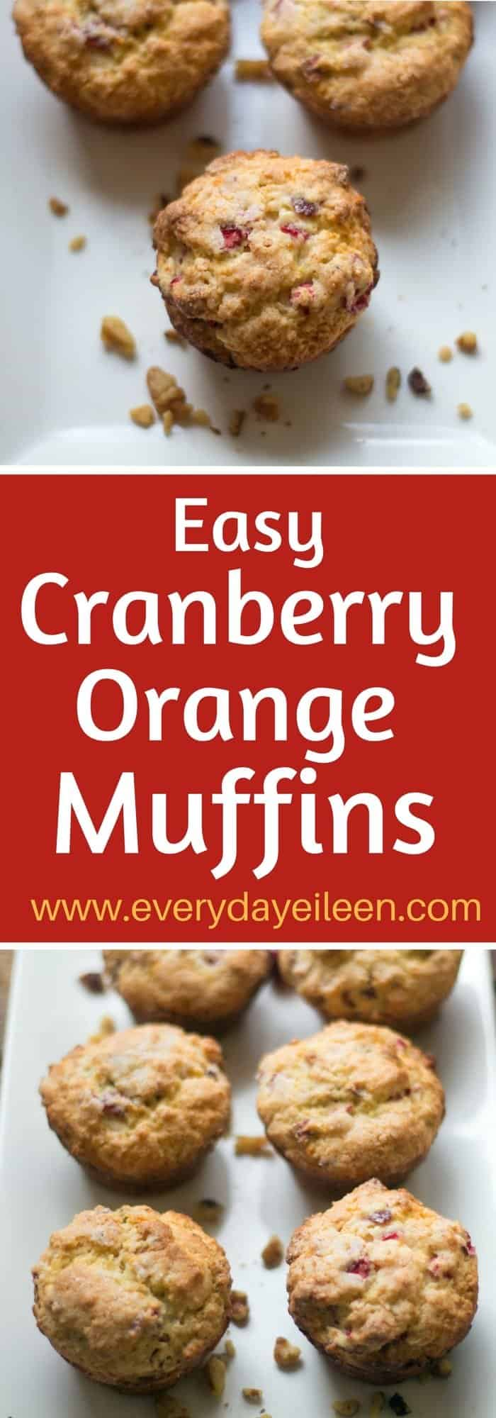 easy cranberry orange muffins