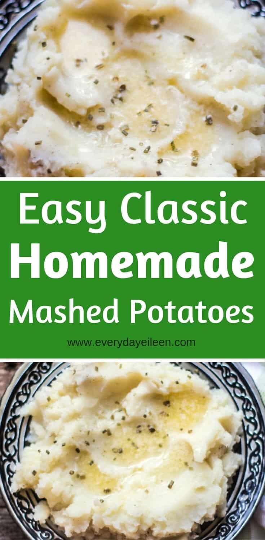 Easy classic homemade mashed potato