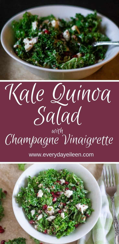 Kale Quinoa Salad with Pomegranates