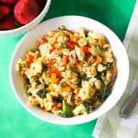 healthy veggie egg scramble