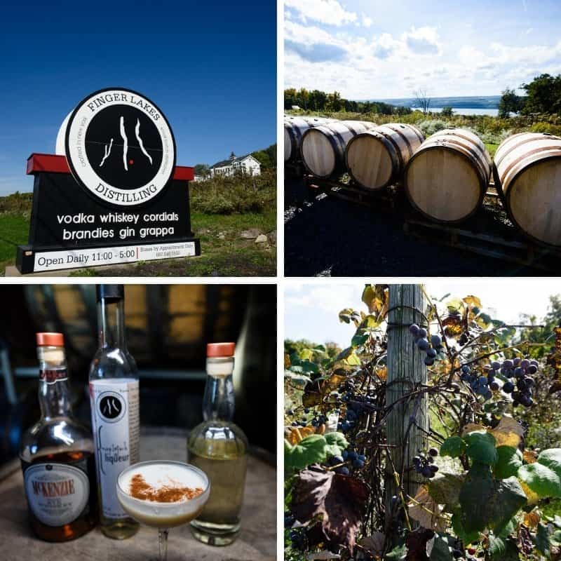 A combination of photos from the #NYDairyTour2018 at th Finger Lakes Distillery