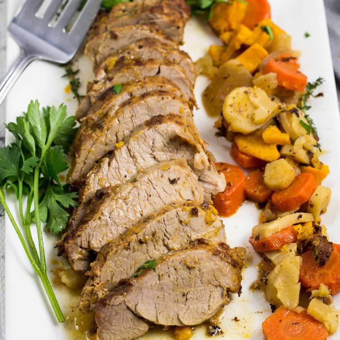 Instant Pot Pork Tenderloin With Root Vegetables