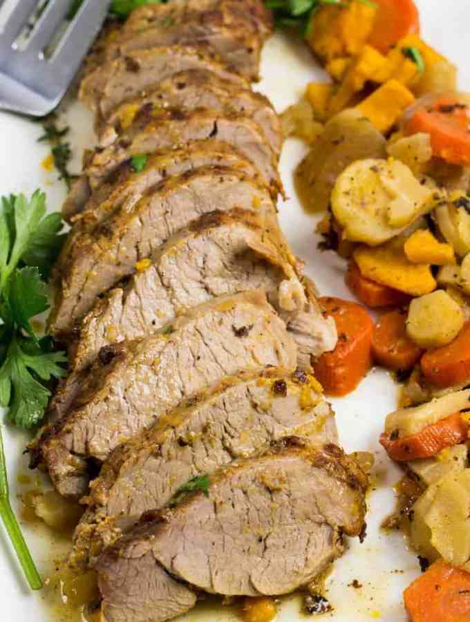 Instant Pot Pork Tenderloin with Root Vegetables