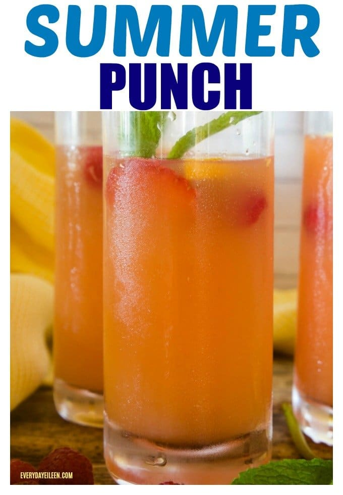 Summer Punch, refreshing and in tall glasses