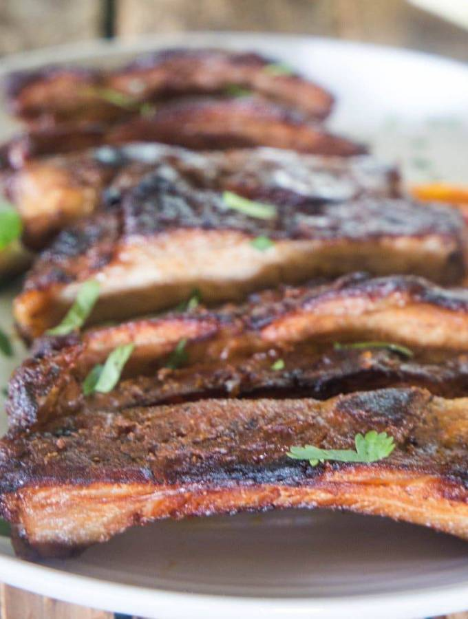 Foil Wrapped Grilled Pork Ribs with Peach BBQ Sauce