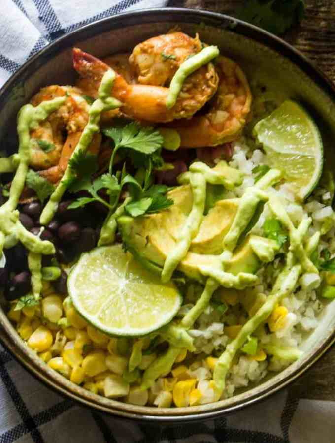 Baja Shrimp Taco Bowl Recipe