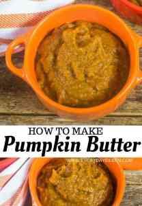 a collage of pumpkin butter