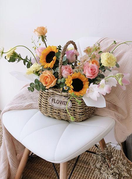 Cheers Flower Basket