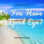 Do You Have A Good Eye? #MondayMusings #MondayBlogs