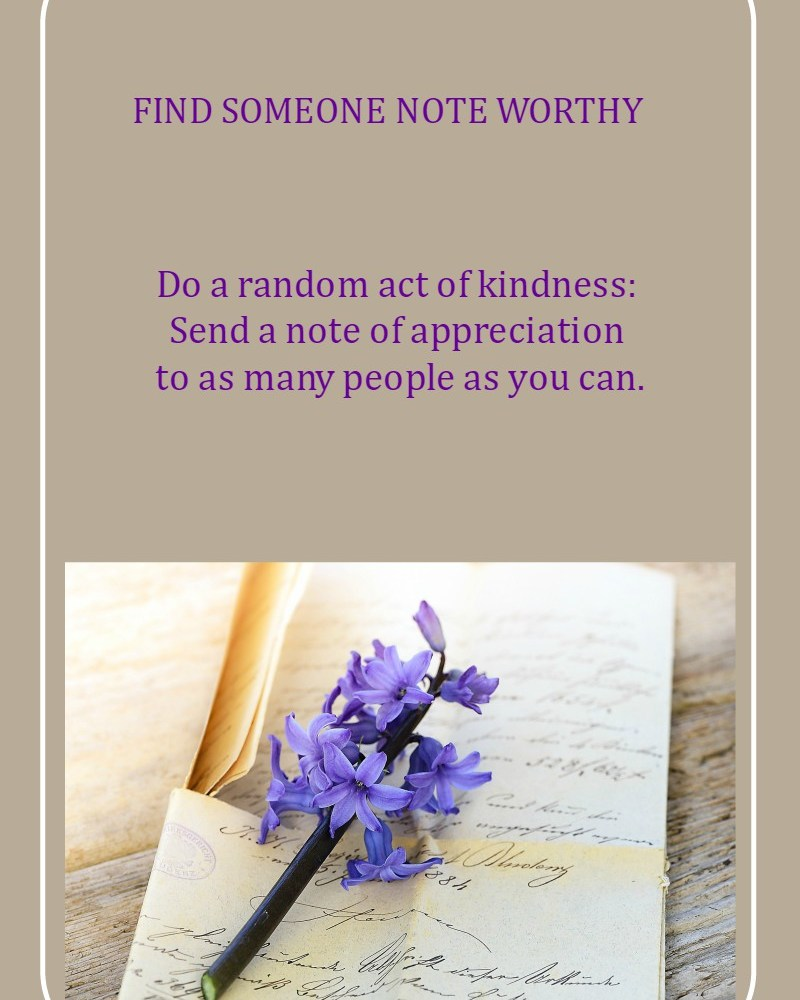 Find Someone Note Worthy