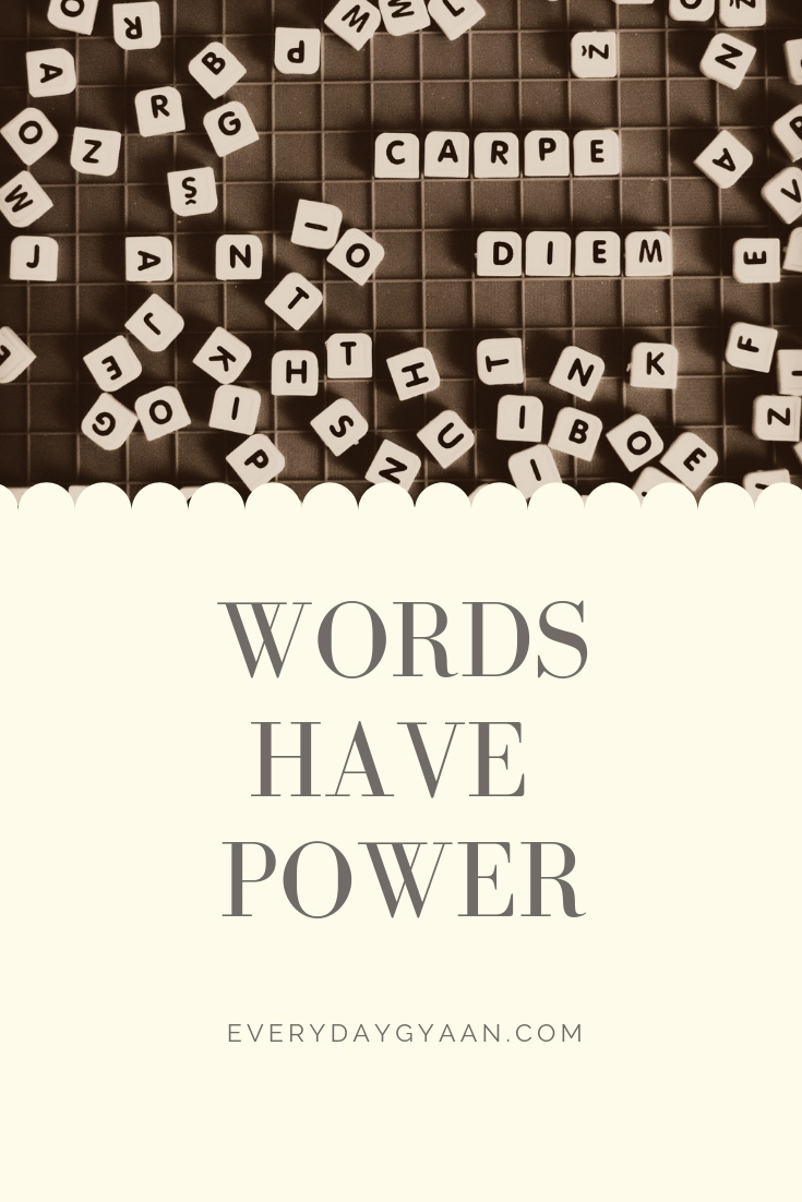 Words Have Power? #FridayReflections