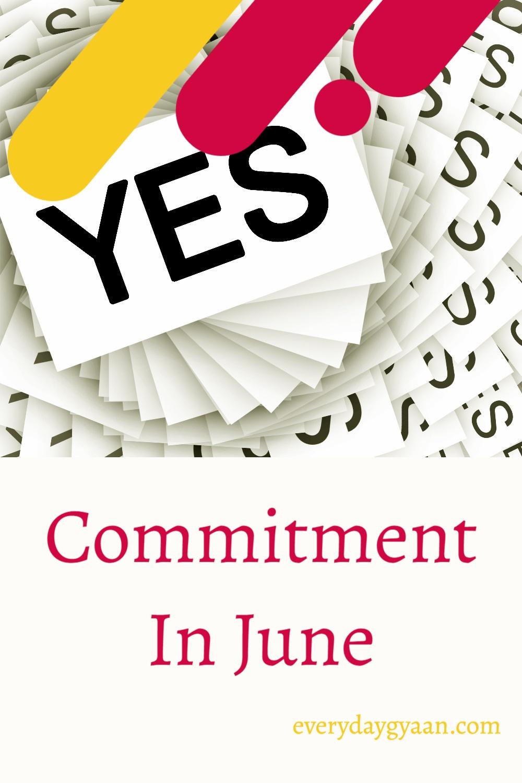 Commitment In June