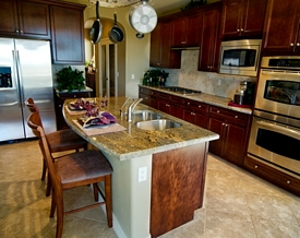 remodeled kitchen in Vancouver BC with granite countertops