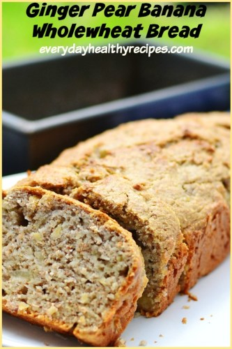 Dairy Free Banana Bread with Ginger and Pear