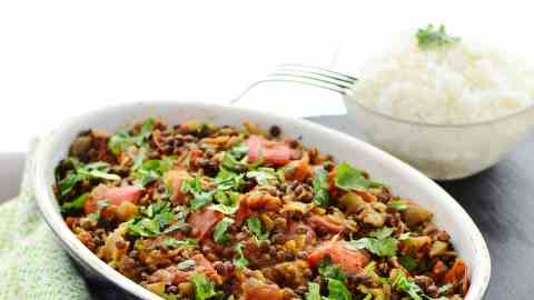 Curried Lentils with Coconut Milk & Vegetables