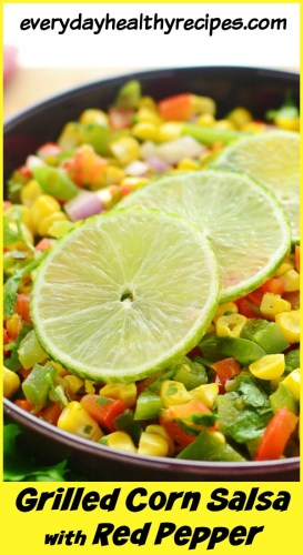 Drilled Corn Salsa with Peppers