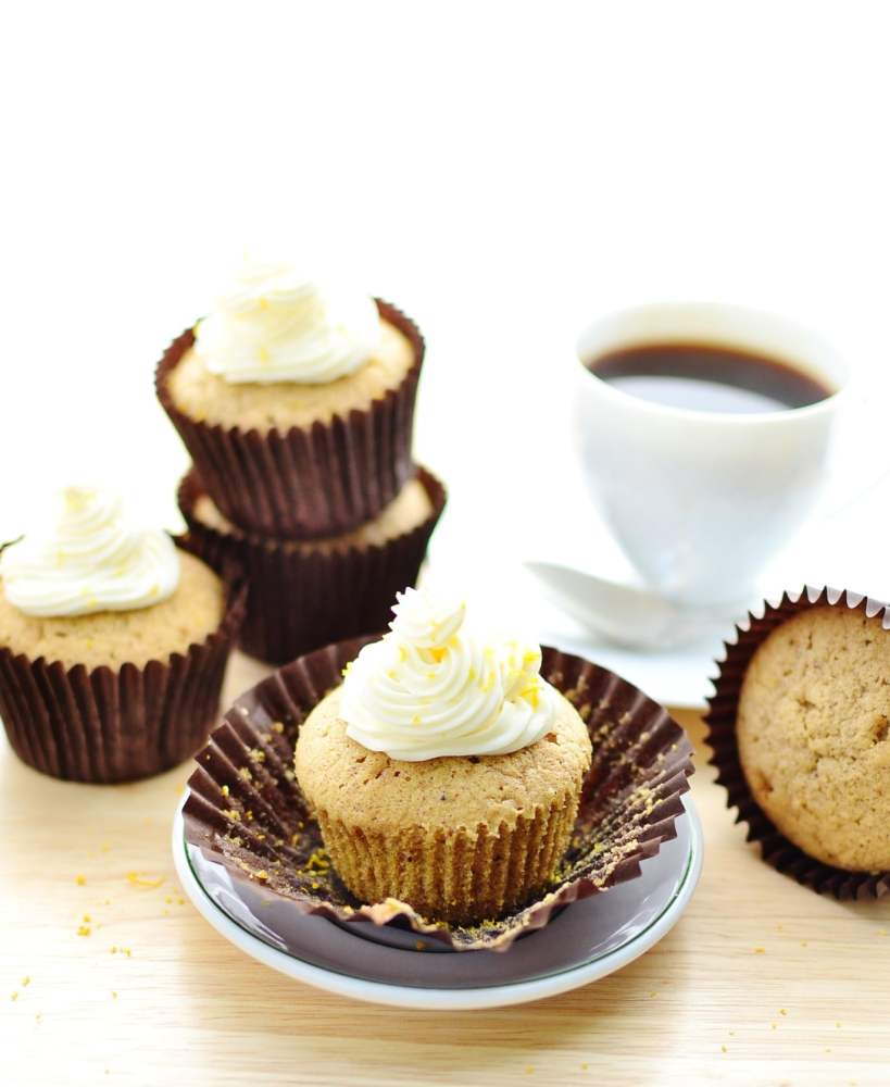 Pumpkin Spice Cupcakes With Healthy Lemon Frosting