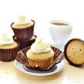 Pumpkin Spice Cupcake Recipe with Lemon Frosting