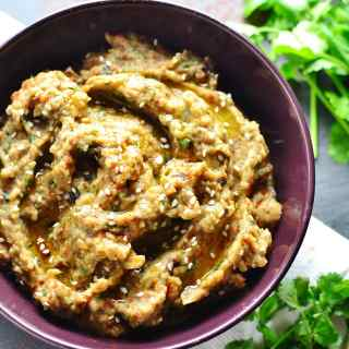Easy Roasted Eggplant Dip (Vegan)