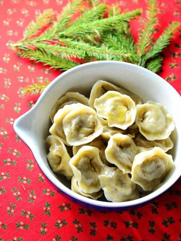 Polish Christmas Eve Porcini Dumplings (Uszka)