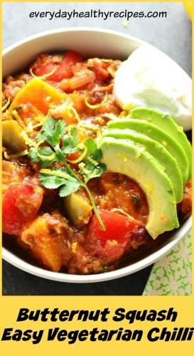 Butternut Squash Vegetarian Chilli