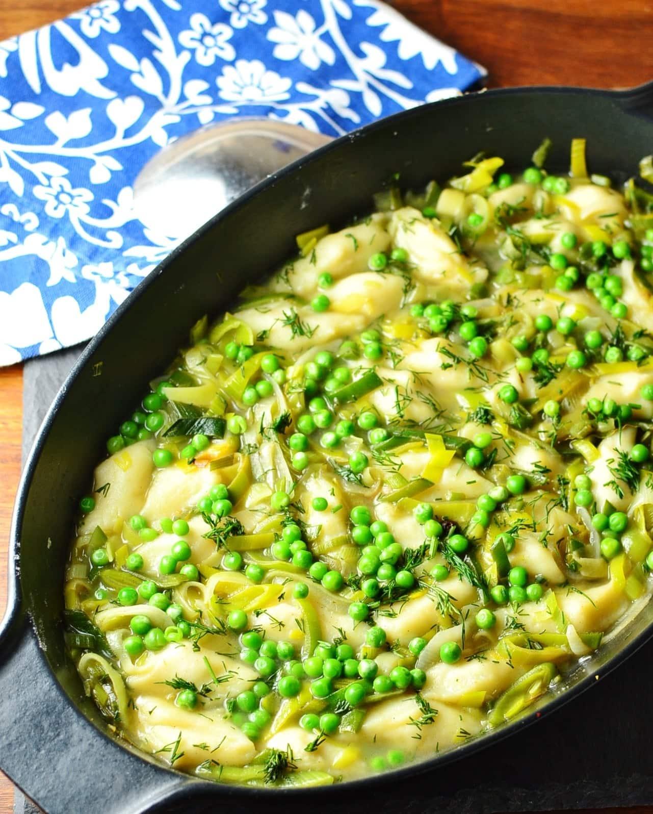 Leek and Potato Dumpling Stew