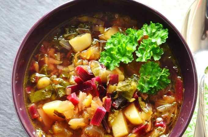 Beet Greens Vegetable Soup