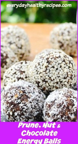 Prune, Nut and Chocolate Energy Balls