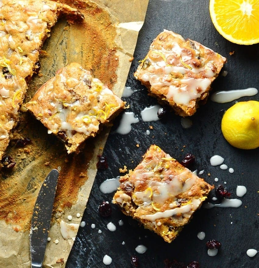 Healthy Fruit Cake Traybake with Nuts