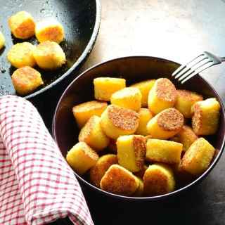 Potato Dumplings with Polenta