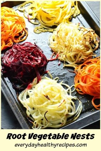 Root Vegetable Noodles Nests