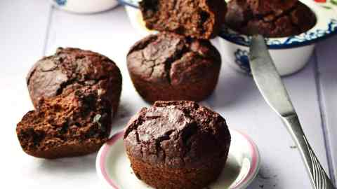 Beet Chocolate Muffins with Chocolate Chips