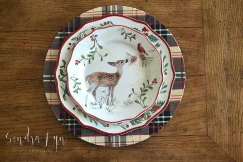 Plaid-Charger-with-BHG-Deer-Christmas-Salad-Plate-Sondra-Lyn-at-Home