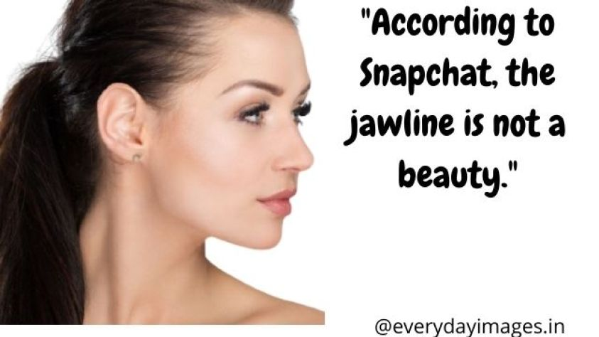 According to Snapchat the jawline is not a beauty.