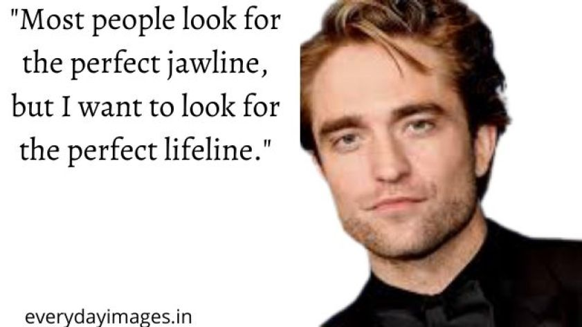 Most people look for the perfect jawline but I want to look for the perfect lifeline.